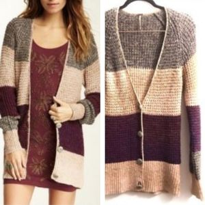 FREE PEOPLE BUTTONS CARDIGAN